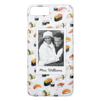 Coque iPhone 8 Plus/7 Plus Le motif japonais | de sushi de la nourriture |