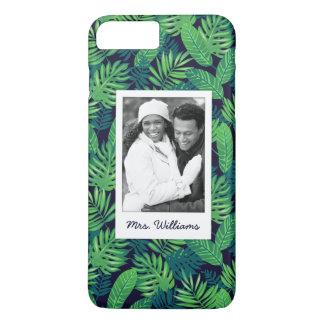 Coque iPhone 8 Plus/7 Plus Le motif tropical   de feuille ajoutent votre