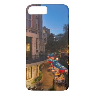 Coque iPhone 8 Plus/7 Plus Le Riverwalk au crépuscule à San Antonio du centre