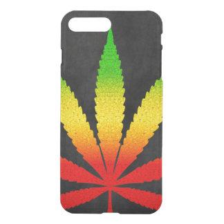 Coque iPhone 8 Plus/7 Plus Les couleurs de Rastafarian de feuille de Rasta de