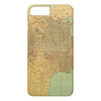Coque iPhone 8 Plus/7 Plus Les Etats-Unis et les territoires