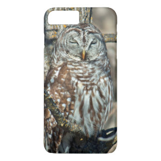 Coque iPhone 8 Plus/7 Plus Les Etats-Unis, le Kansas. Hibou barré (Strix