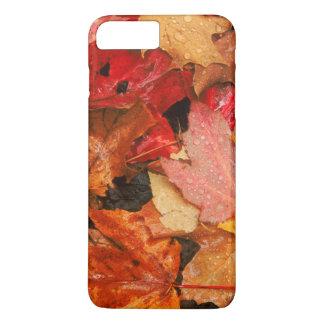 Coque iPhone 8 Plus/7 Plus Les Etats-Unis, Maine. Feuille d'érable d'automne