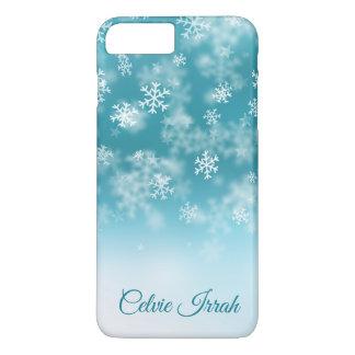 Coque iPhone 8 Plus/7 Plus Les flocons de neige élégants ont personnalisé la