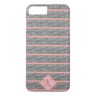 Coque iPhone 8 Plus/7 Plus Les parties scintillantes argentées roses