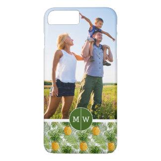 Coque iPhone 8 Plus/7 Plus Les paumes et les ananas | ajoutent votre photo et
