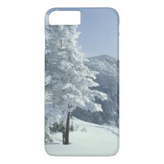 Coque iPhone 8 Plus/7 Plus Les USA, NH, neige ont couvert des traînées