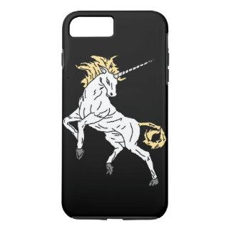 Coque iPhone 8 Plus/7 Plus Licorne (noir)