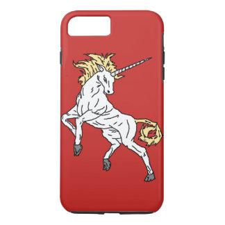 Coque iPhone 8 Plus/7 Plus Licorne (rouge)
