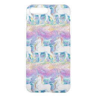 Coque iPhone 8 Plus/7 Plus Licornes d'aquarelle