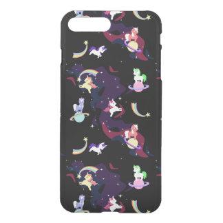 Coque iPhone 8 Plus/7 Plus Licornes de l'espace de Kawaii