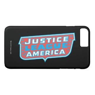 Coque iPhone 8 Plus/7 Plus Ligue de justice de logo de l'Amérique