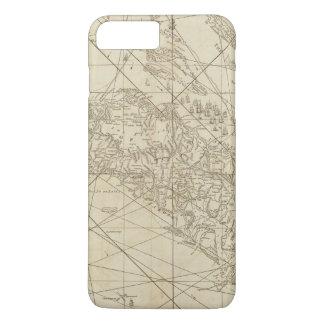 Coque iPhone 8 Plus/7 Plus L'île du Cuba avec une partie du Bahama encaisse
