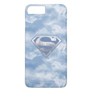 Coque iPhone 8 Plus/7 Plus Logo bleu-clair de ville du S-Bouclier | de