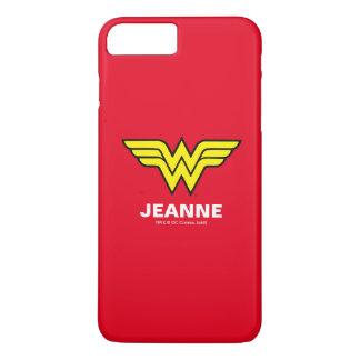 Coque iPhone 8 Plus/7 Plus Logo classique de la femme de merveille |