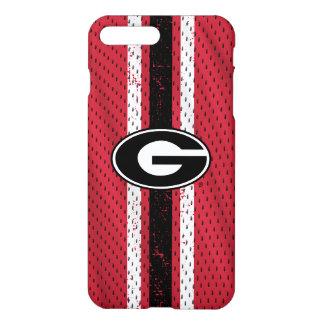Coque iPhone 8 Plus/7 Plus Logo   Jersey de bouledogues de la Géorgie