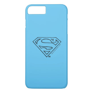 Coque iPhone 8 Plus/7 Plus Logo noir simple 2 d'ensemble du S-Bouclier | de