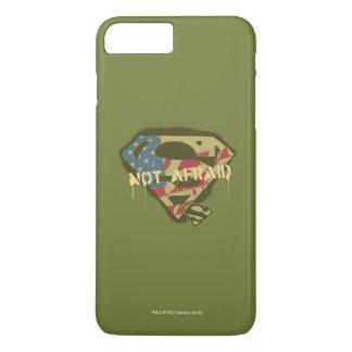Coque iPhone 8 Plus/7 Plus Logo non effrayé du S-Bouclier   de Superman