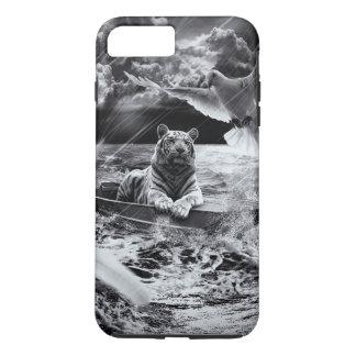 Coque iPhone 8 Plus/7 Plus Lucarne noire et blanche de navigation de bateau