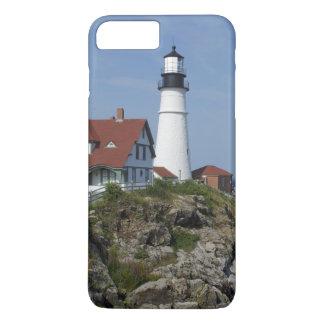 Coque iPhone 8 Plus/7 Plus Lumière principale de Portland, cap Elizabeth,