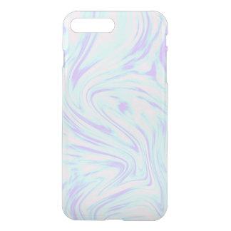 Coque iPhone 8 Plus/7 Plus marbre blanc pourpre bleu rose coloré élégant