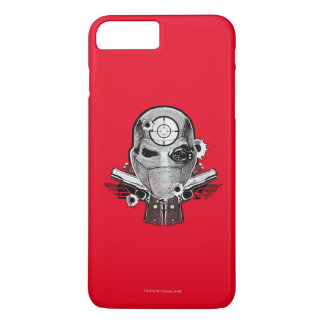 Coque iPhone 8 Plus/7 Plus Masque du peloton | Deadshot de suicide et art de