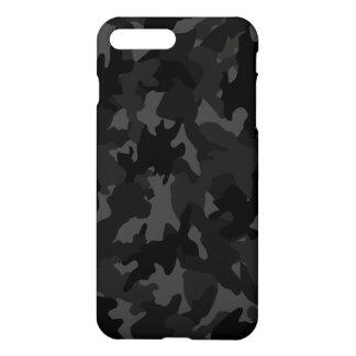 Coque iPhone 8 Plus/7 Plus Matte grise noire faite sur commande de motif de