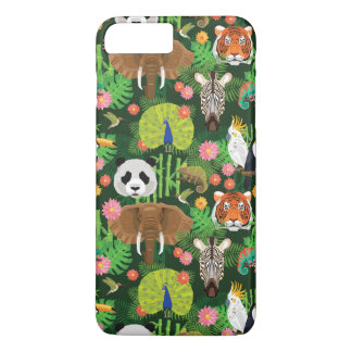 Coque iPhone 8 Plus/7 Plus Mélange animal tropical