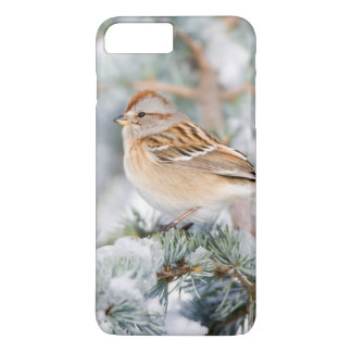 Coque iPhone 8 Plus/7 Plus Moineau d'arbre américain en hiver
