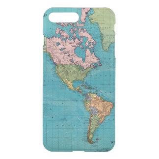 Coque iPhone 8 Plus/7 Plus Monde, la projection de Mercator