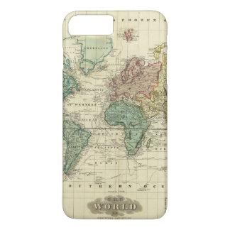 Coque iPhone 8 Plus/7 Plus Monde sur la projection de Mercators