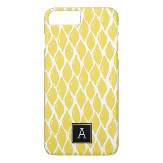 Coque iPhone 8 Plus/7 Plus Monogramme jaune de très bon goût de noir de