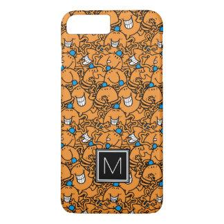 Coque iPhone 8 Plus/7 Plus Monogramme orange du motif | de chatouillement de