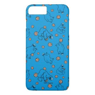 Coque iPhone 8 Plus/7 Plus Monstre de biscuit et motif bleu de biscuits