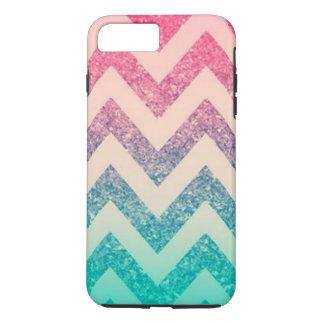 Coque iPhone 8 Plus/7 Plus Motif à la mode frais de Chevron de zigzag d'Ombre