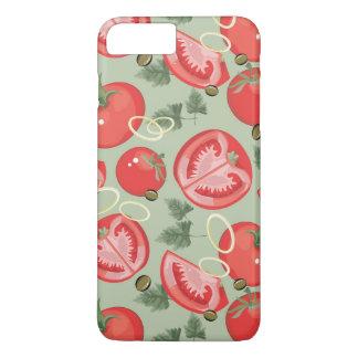 Coque iPhone 8 Plus/7 Plus Motif abstrait avec la tomate