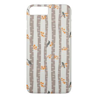 Coque iPhone 8 Plus/7 Plus Motif avec des arbres et des oiseaux d'automne