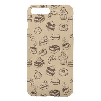 Coque iPhone 8 Plus/7 Plus Motif avec des gâteaux, des desserts et la
