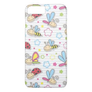 Coque iPhone 8 Plus/7 Plus motif avec des insectes
