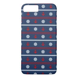 Coque iPhone 8 Plus/7 Plus Motif blanc et bleu rouge d'océan