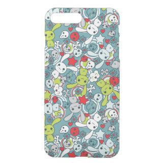 Coque iPhone 8 Plus/7 Plus motif bleu de kawaii