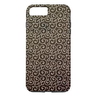 Coque iPhone 8 Plus/7 Plus motif/brun élégants de remous