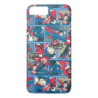 Coque iPhone 8 Plus/7 Plus Motif comique de Superman