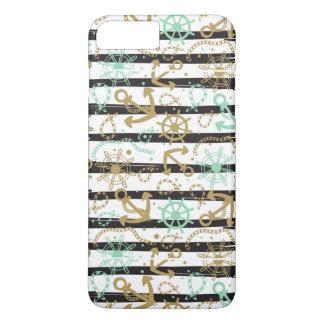Coque iPhone 8 Plus/7 Plus Motif d'ancre flottante