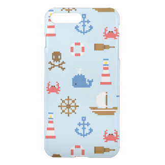 Coque iPhone 8 Plus/7 Plus Motif d'art de mer de pixel