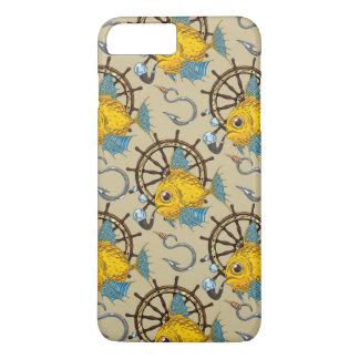 Coque iPhone 8 Plus/7 Plus Motif de capitaine de la marine marchande poisson