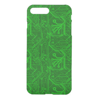 Coque iPhone 8 Plus/7 Plus Motif de carte électronique de vert