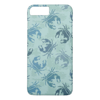 Coque iPhone 8 Plus/7 Plus Motif de colorant de cravate des crabes