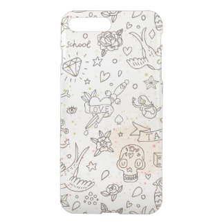Coque iPhone 8 Plus/7 Plus Motif de concept de tatouage
