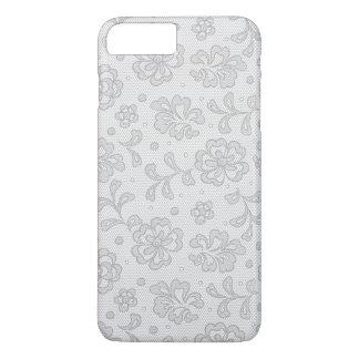 Coque iPhone 8 Plus/7 Plus Motif de dentelle, cru 1 de fleur